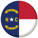 North Carolina State Flag 58mm Mirror Keyring